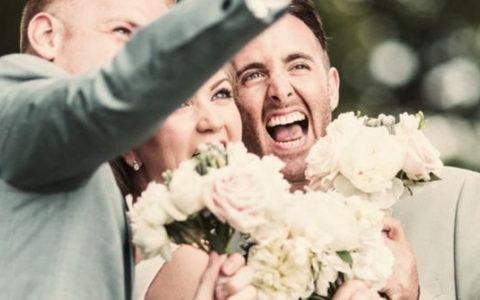 Monogramme sur photo de mariage